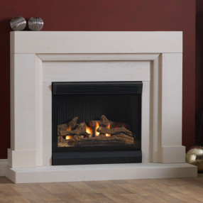 Burley Watersmeet Limestone Fireplace With Acumen Flueless Gas Fire