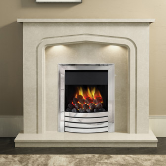 "BeModern Cassola 48"" Marble Fireplace Suite"