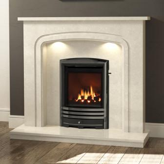"""BeModern Mirandola 48"""" Marble Fireplace Suite"""