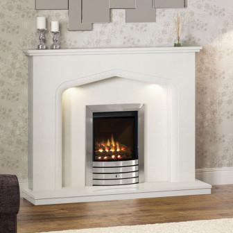Elgin & Hall Verdena Marble Fireplace Suite