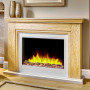 Katell Valdina electric fireplace suite in natural oak
