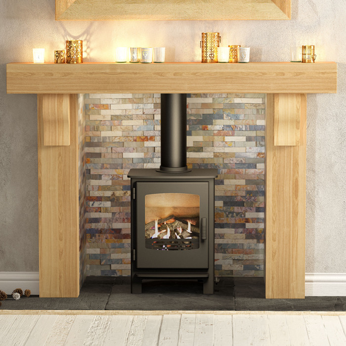 Be Modern 60 Elicott Solid Oak Surround Fireplaces Are Us