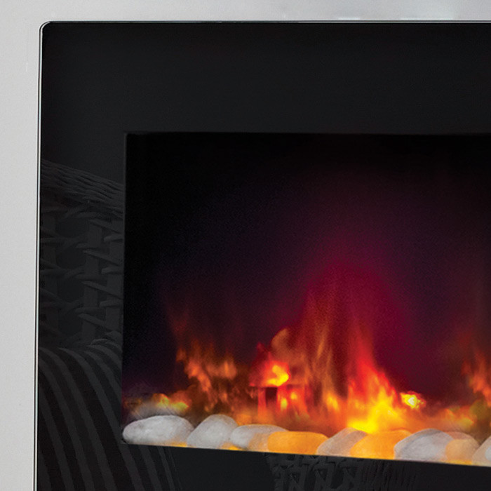 Contemporary Free Standing Electric Fires: Be Modern Amari Wall Mounted/Free Standing Electric Fire