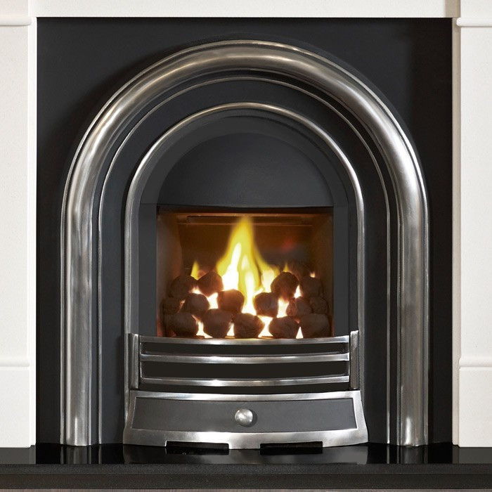 Gallery Brompton Stone Fireplace with Efficiency Plus ...