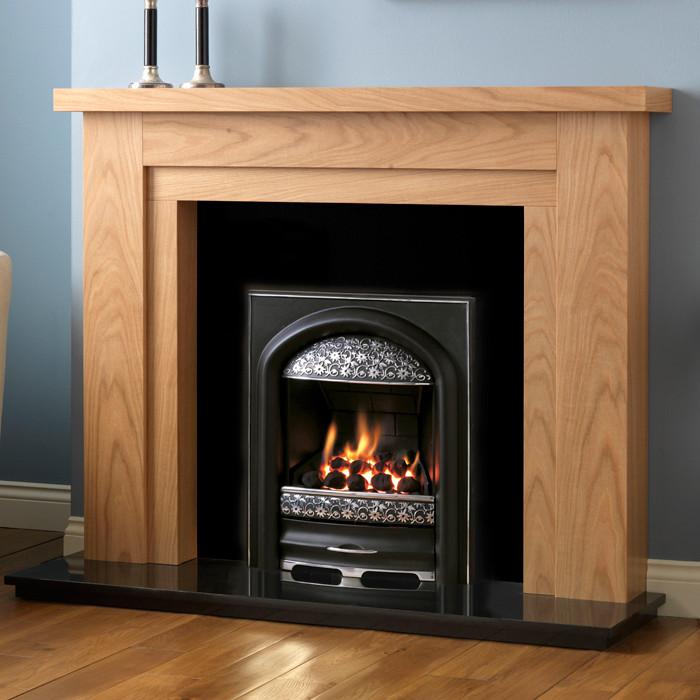 Pureglow Hanley Oak Finish Fireplace Suite Fireplaces Are Us