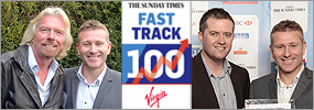 Fast Track 100 Mike and Richard Branson
